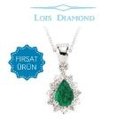 Lois Diamond Pırlanta Zümrüt Kolye ky3043