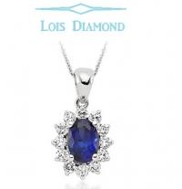 Lois Diamond Pırlanta Safir Kolye ky4031