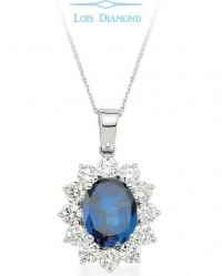 Lois Diamond Pırlanta Safir Kolye KY4032