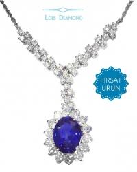 Lois Diamond Pırlanta Safir Kolye KY4038
